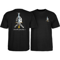 Powell Peralta Skull & Sword T-Shirt Extra Large Black