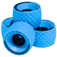 Mbs All Terrain Skateboard Wheels Set 100mm Blue