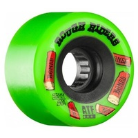 BONES SKATEBAORD WHEELS ATF ROUGH RIDERS GREEN 56MM