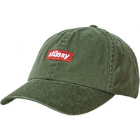 Stussy Hat - Boxed Italic Lo Pro Cap - Dark Bottle
