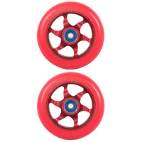 Flavor Awakening 110mm Scooter Wheel Set Of 2 With Bearings Red