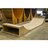 Kick Push Half Pipe - 3 Feet High x 1.8 Metres Wide - Skateboard Ramp Scooter Bmx