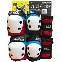 187 Junior Protective Pad Set Red Blue White