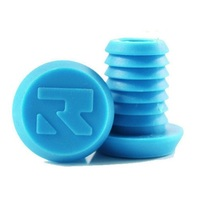 Root Industries Alloy Bar Ends Plugs - Sold As Pairs - Standard Aqua