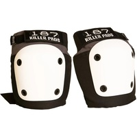 187 Fly Knee Pad - Grey White - Size Adult Medium