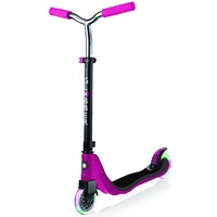 Globber 2 Wheel Flow 125 Light Up Scooter Ruby Grey Pink