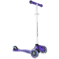 Globber Kids Mini Kick Scooter 3 Wheel Purple Primo Plus