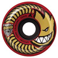 Spitfire Skateboard Wheels Charger Red Conical 58mm 80Hd