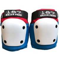 187 Fly Knee Pad Red White Blue Size Adult Large