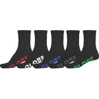 Globe Mens Socks 5 Pairs Black Stealth Crew Large US 12 to 15