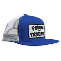 Thrasher Skate Hat Prevent This Tragedy Snapback -Navy / White