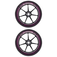District 120mm Dual Width Scooter Wheels - Black Magenta