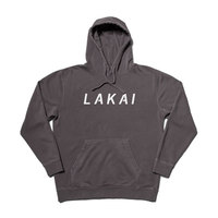 Lakai Swift Pigment Dyed Pullover Hoodie Black Medium