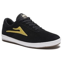 Lakai Mens Skate Shoes Sheffield Black Gold Suede