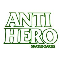 Anti Hero Black Hero Sticker Green Outline x 1