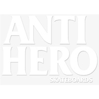 Anti Hero Black Hero Sticker White Solid x 1