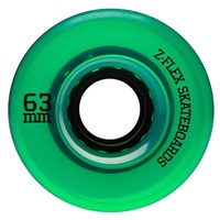 Z-Flex V2 Z-Smooth Wheels Green Trans 63mm