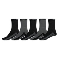 Globe Mens Socks 5 Pairs Black / Grey Crew