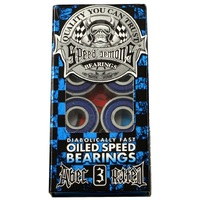 Speed Demons Oiled Skateboard Scooter Bearings 8 Pack Abec 3