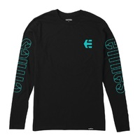 Etnies Youth T-Shirt Stencil LS Youth Large Black