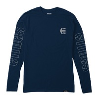 Etnies Youth T-Shirt Stencil LS Youth Extra Large Navy