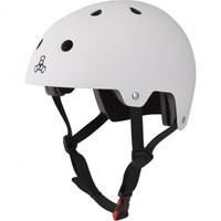 Triple 8 Brainsaver Certified Helmet White Rubber Size Small to Medium Skate Scooter