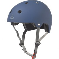 Triple 8 Brainsaver Certified Helmet Blue Rubber Size Large to Extra Large Skate Scooter