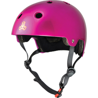 Triple 8 Brainsaver Certified Helmet Pink Metallic Size Small to Medium Skate Scooter