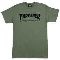 Thrasher Skate Mag T-Shirt Small Army Green