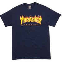 Thrasher Flame T-Shirt Medium Navy