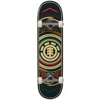 Element Complete Skateboard Hatched Red Green 8.0