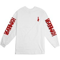 Deathwish Deathstack T-Shirt LS Landmark White Red Large