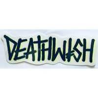 Deathwish Deathspray Sticker Black Yellow x 1