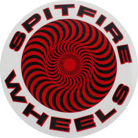 Spitfire Skateboard Sticker Classic Swirl Red Large x 1