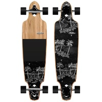 Obfive Midnight Drop Through 38 Longboard Skateboard Complete