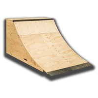 Kick Push Quarter Pipe 2.75 Feet High Skateboard Ramp Scooter Bmx