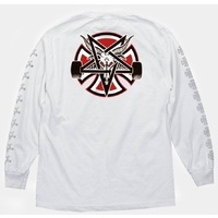 Independent X Thrasher Pentagram Cross LS T-Shirt Large White