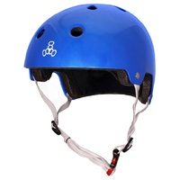 Triple 8 Brainsaver Certified Helmet Blue Metallic Size Large to Extra Large Skate Scooter