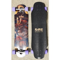 Rare Board Co Longboard Skateboard Complete Samurai Double Kick Free Ride