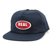 Real Skateboards Cap Adjustable Oval Patch Navy