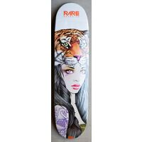 Rare Skateboard Deck Tiger Head Girl 8