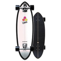 Carver Surfskate Skateboard Complete Black Beauty With C7 Trucks Silver