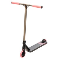 Triad Racketeer Complete Scooter Satin Black Raw Pastel Pink