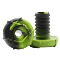 Envy Bar Ends Plugs Sold As Pairs Black Green - Suit Alloy Bars
