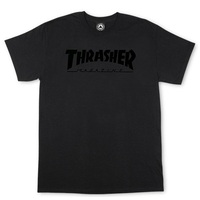 Thrasher Skate Mag T-Shirt Large Black On Black
