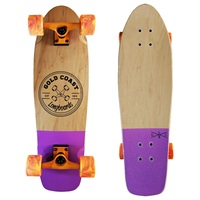 Gold Coast Longboards Complete Cruiser Skateboard Retro Dip Purple