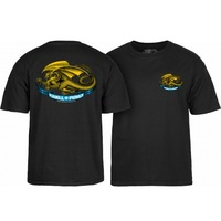 Powell Peralta Oval Dragon Black T-Shirt Youth Large