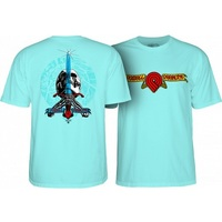 Powell Peralta Triple P Skull & Sword T-Shirt Small Celadon