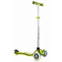 Globber Kids Mini Kick Scooter 3 Wheel Green Primo v2 Lights