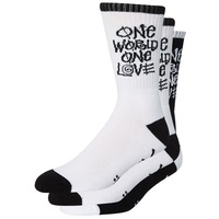 Stussy Socks 3 Pairs Black White One Love